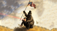 american flag grizzly abraham linoln lol