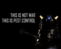doctor who bbc robot this is not war this is pest control