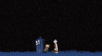 calvin and hobbes doctor who tardis