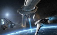 Sci-Fi  space battle ships orbit future