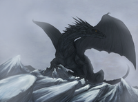 dragon fantasy snow